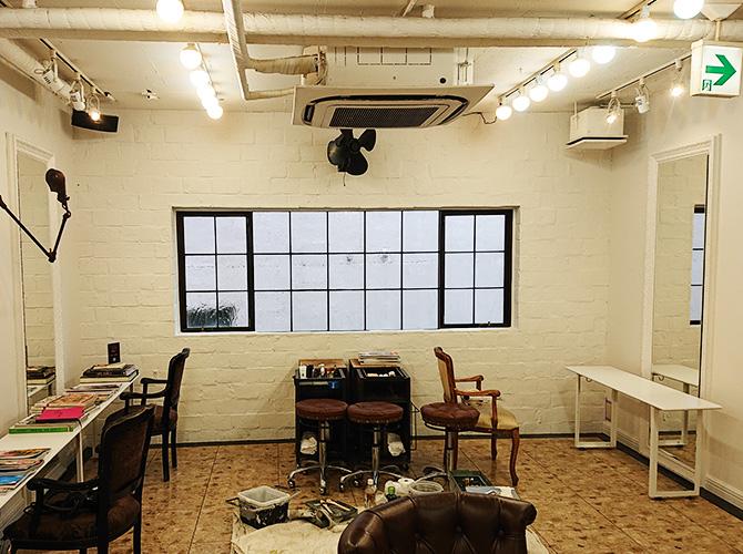 東京都渋谷区美容室の内部塗装工事の施工後