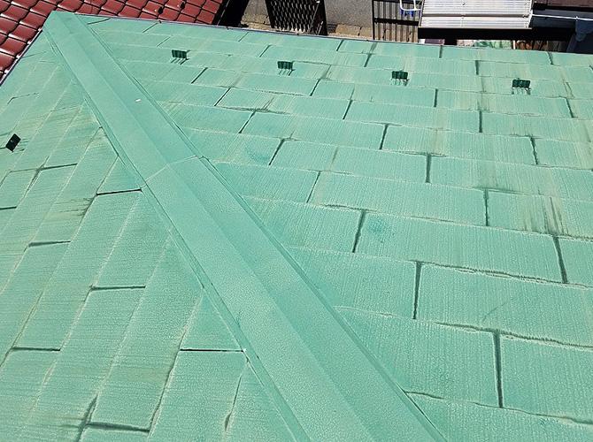 東京都日野市2階建住宅の屋根塗装・鉄部塗装工事の施工前