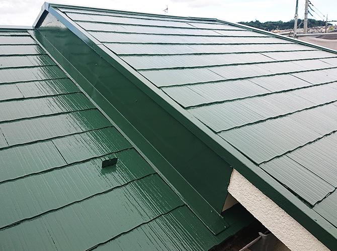 東京都日野市2階建住宅の屋根塗装・鉄部塗装工事の施工後