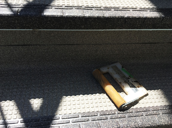 階段のシート貼り