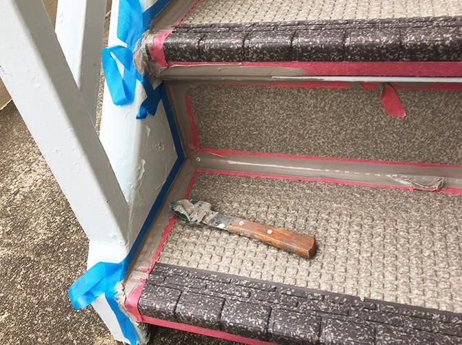 階段端部のシール