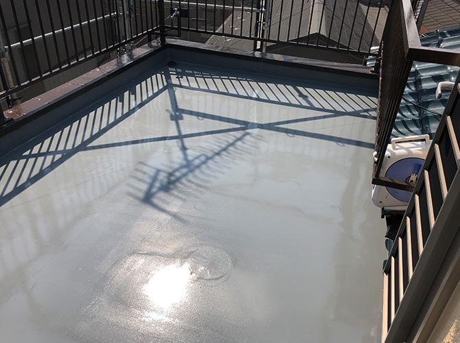 屋上防水の施工後