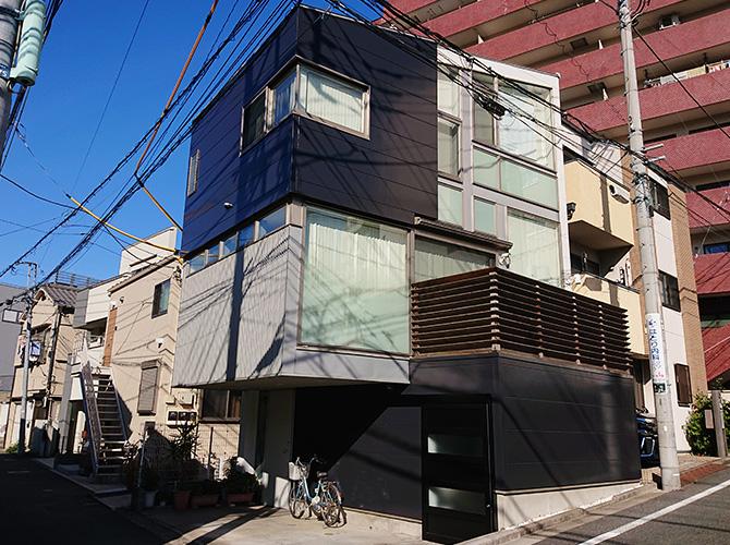 東京都文京区3階建住宅の外壁塗装・外壁張替工事の施工後