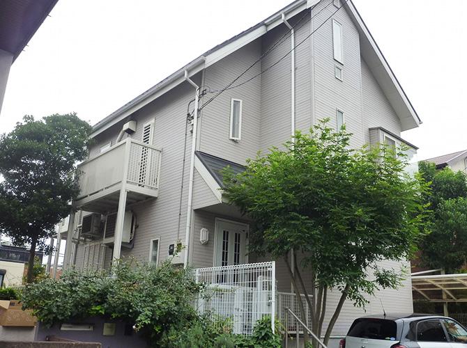 東京都世田谷区2階建住宅の外壁塗装・屋根塗装工事の施工前