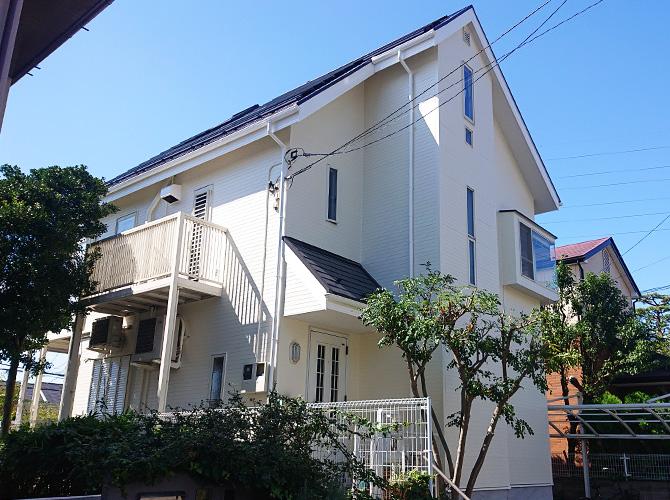東京都世田谷区2階建住宅の外壁塗装・屋根塗装工事の施工後