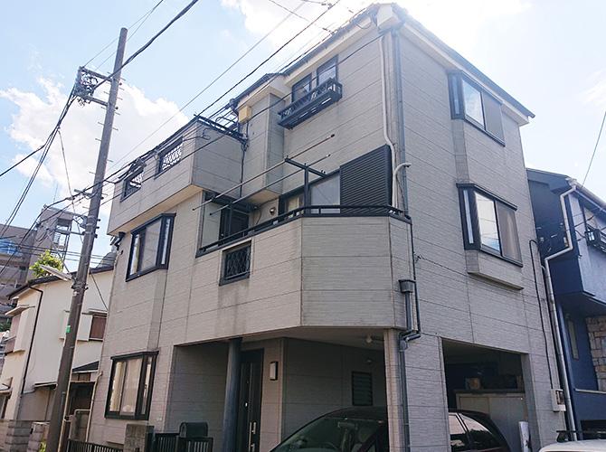 東京都練馬区3階建住宅の外壁塗装・屋根塗装工事の施工前