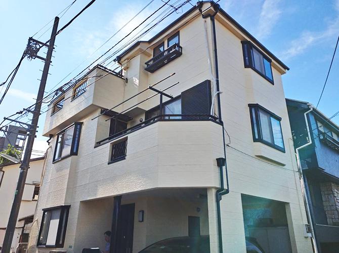 東京都練馬区3階建住宅の外壁塗装・屋根塗装工事の施工後