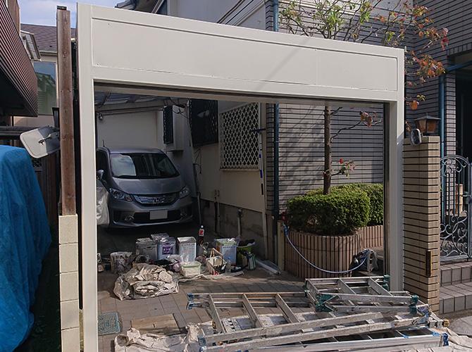 東京都練馬区住宅のシャッターBOXサビ止め塗装工事の施工後
