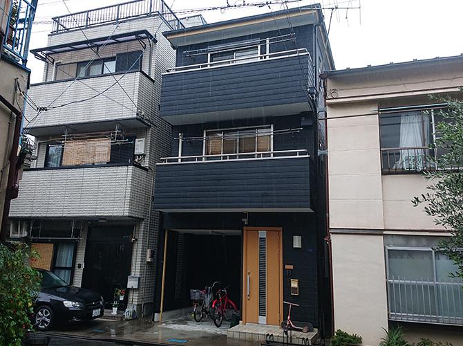 東京都墨田区3階建住宅の外壁塗装・屋根塗装工事の施工後