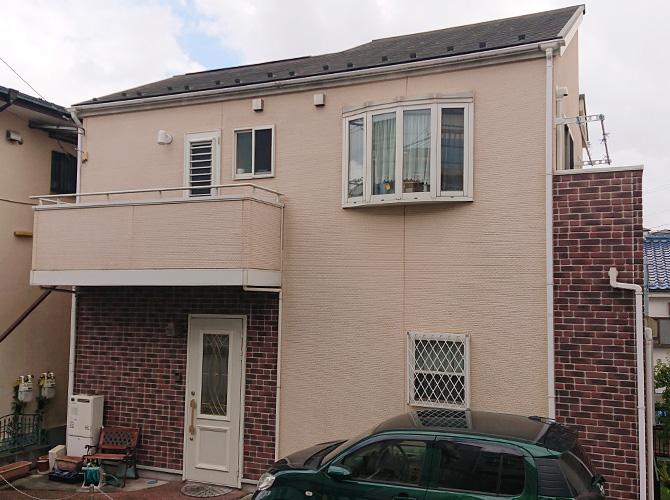 神奈川県横浜市2階建住宅の外壁塗装・屋根塗装工事の施工前
