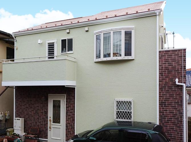 神奈川県横浜市2階建住宅の外壁塗装・屋根塗装工事の施工後