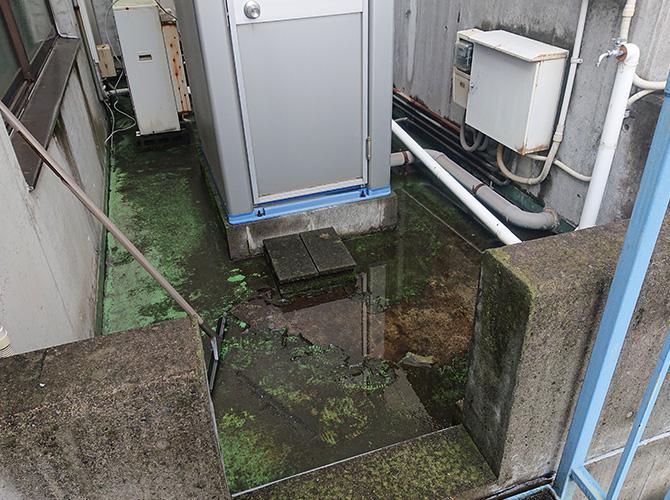 屋上防水の施工前