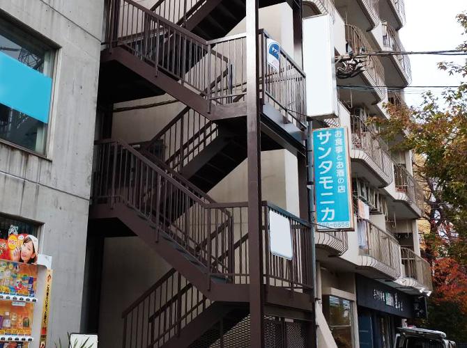 東京都日野市ビルの鉄骨階段塗装・長尺シート工事の施工後