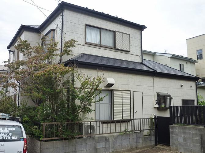 千葉県習志野市2階建住宅の外壁塗装・シール工事の施工前