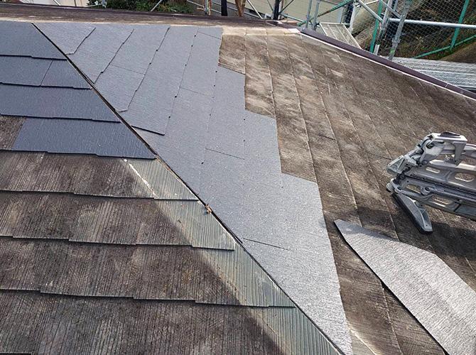 屋根材の張替後