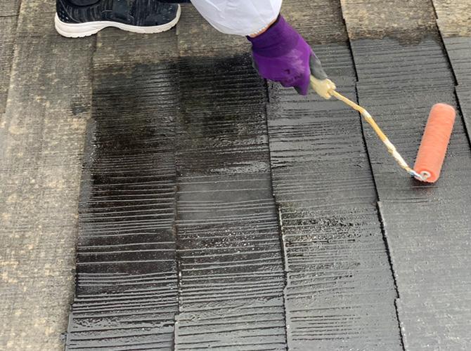 神奈川県横浜市2階建アパートの屋根修理・屋根塗装工事の施工後