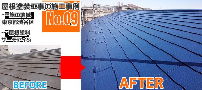 渋谷区戸建住宅のコロニアル屋根塗装工事の施工事例