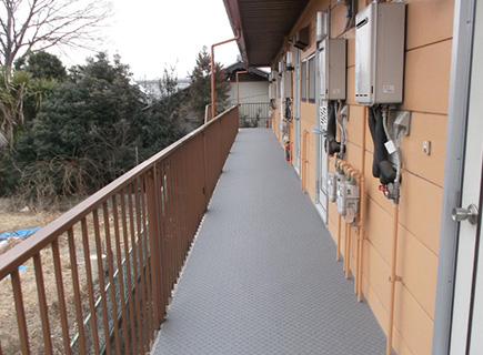 埼玉県熊谷市アパート長尺シート工事の施工後