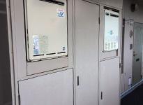 東京都目黒区マンションのPS扉塗装工事の施工前