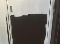 東京都品川区マンションのPS扉塗装工事の施工前
