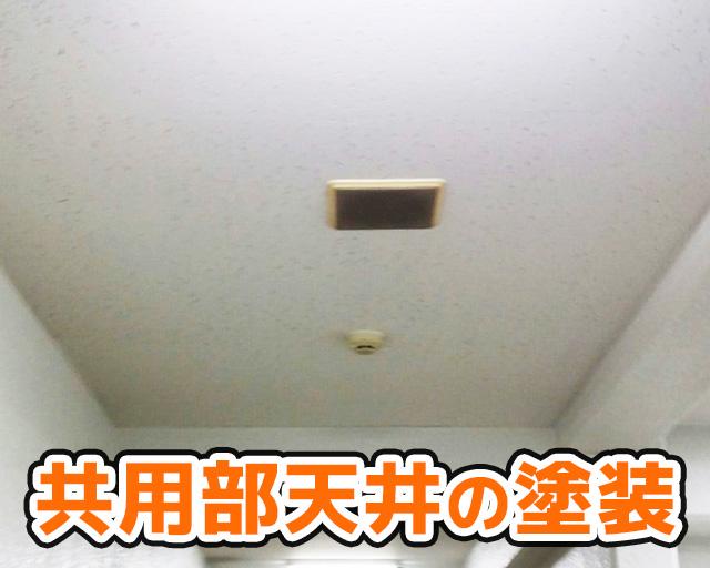 共用部天井の塗装