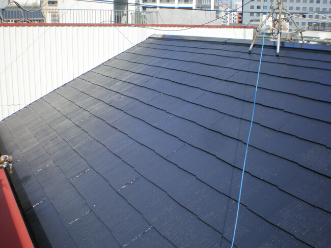 東京都品川区のサーモアイ・パラサーモの屋根塗装施工事例
