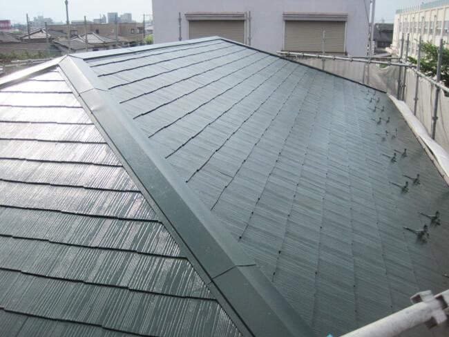 東京都足立区舎人のサーモアイ・パラサーモの屋根塗装施工事例