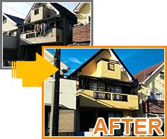 東京都東久留米市の外壁塗装・屋根塗装工事の施工事例