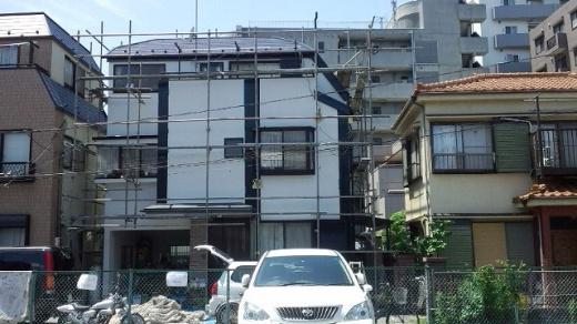 東京都足立区舎人のセラミシリコン塗料の外壁塗装施工事例