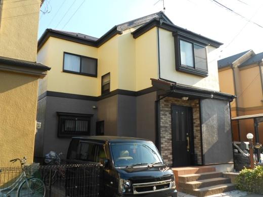 東京都足立区西伊興のセラミシリコン塗料の外壁塗装施工事例