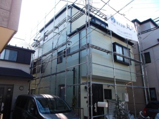 東京都足立区興野のセラミシリコン塗料の外壁塗装施工事例