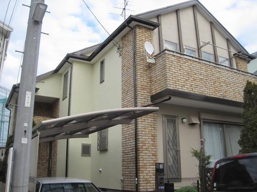 千葉県市川市のハナコレクションの外壁塗装施工事例