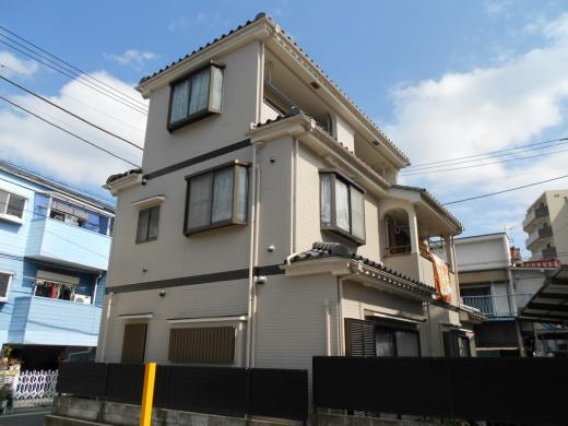 東京都足立区千住東のハナコレクションの外壁塗装施工事例