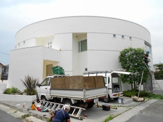 埼玉県蓮田市のハナコレクションの外壁塗装施工事例