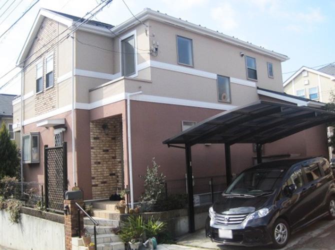 東京都北区で外壁塗装にシリコン塗料を使用した事例の施工後