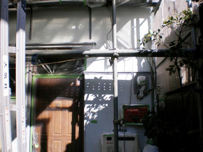 東京都港区で外壁塗装にシリコン塗料を使用した事例の施工後