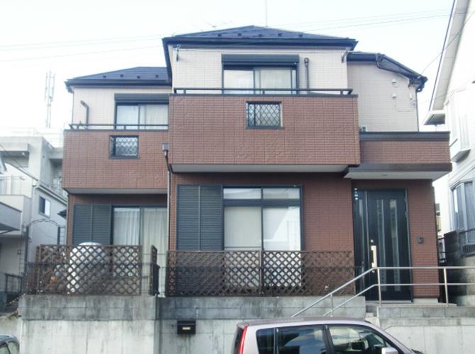 東京都あきる野市で外壁塗装にシリコン塗料を使用した事例の施工後