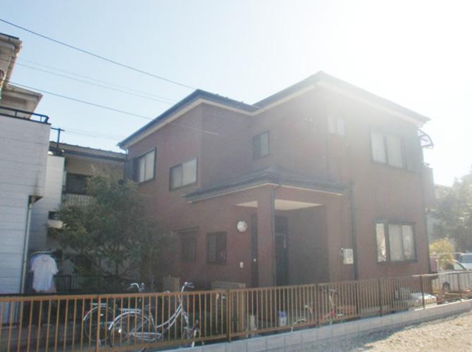 東京都日野市で外壁塗装にシリコン塗料を使用した事例の施工後
