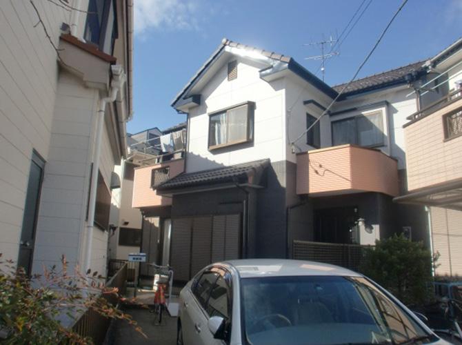 東京都小金井市で外壁塗装にシリコン塗料を使用した事例の施工後