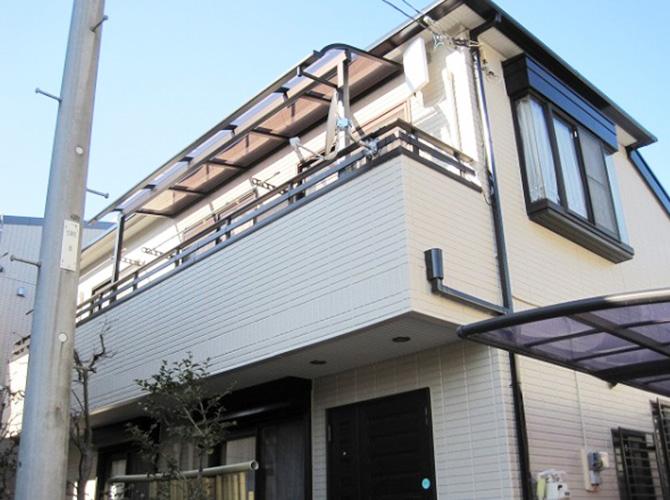 東京都昭島市で外壁塗装にシリコン塗料を使用した事例の施工後