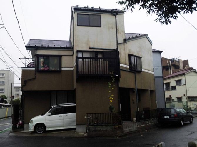 東京都東久留米市で外壁塗装にシリコン塗料を使用した事例の施工前