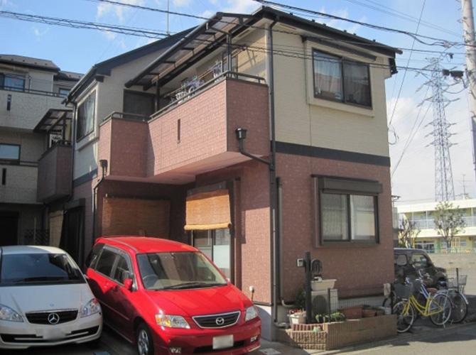 東京都武蔵村山市で外壁塗装にシリコン塗料を使用した事例の施工前