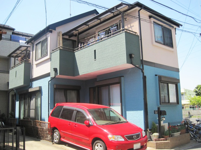 東京都武蔵村山市で外壁塗装にシリコン塗料を使用した事例の施工後