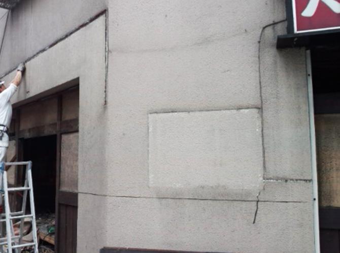 東京都荒川区のビル外壁塗装施工事例の施工前
