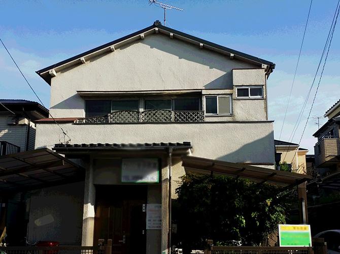 東京都江戸川区の住宅外壁塗装施工事例の施工前