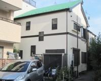 外壁塗装:ハナコレクション 屋根塗装:ガイナ 施工地域:東京都荒川区