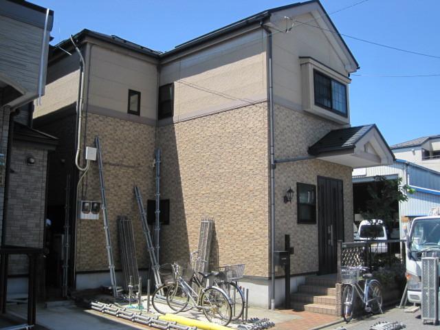 東京都足立区保木間の外壁塗装施工事例の施工前