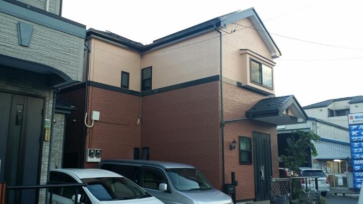 東京都足立区保木間のナノコンポジットWの外壁塗装施工事例