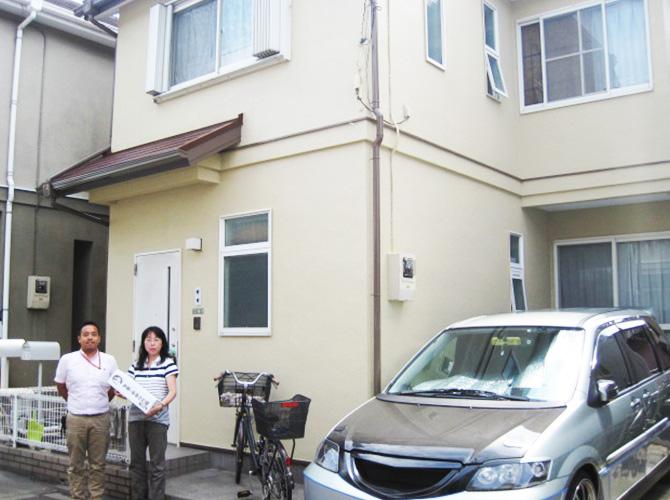 東京都足立区佐野の外壁塗装の施工事例の施工後