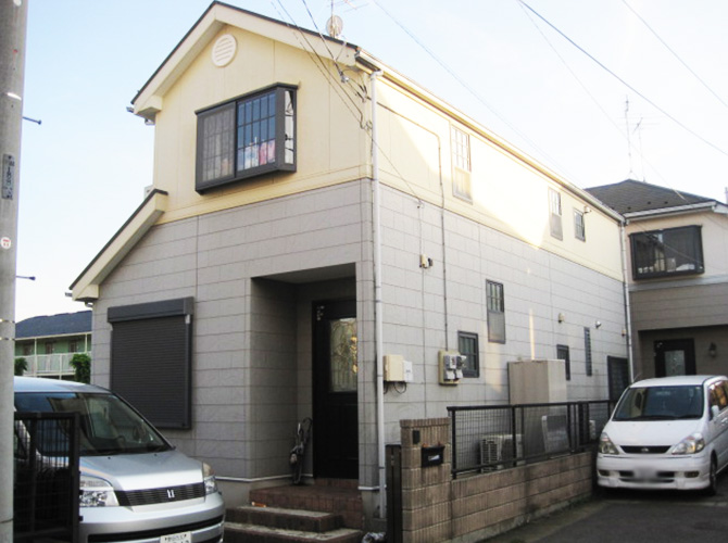 千葉県柏市の外壁塗装・屋根塗装の施工事例の施工前